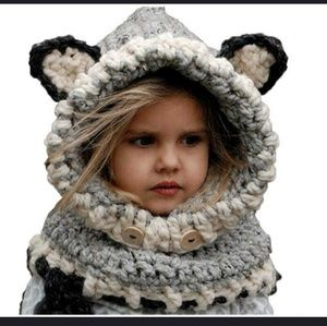Other - Children's crochet animal scarf hat